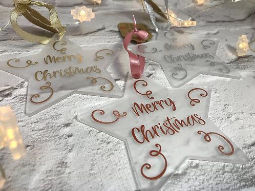 Christmas swirls star