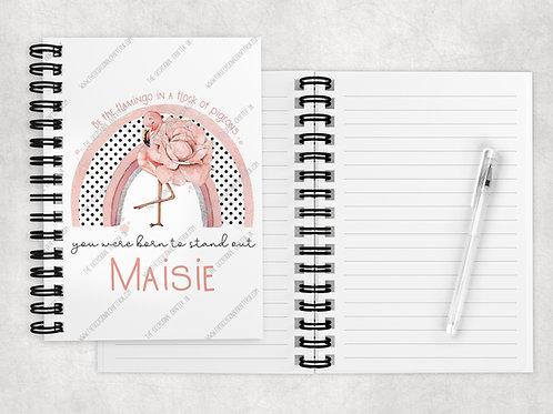 Be a flamingo A5 notebook