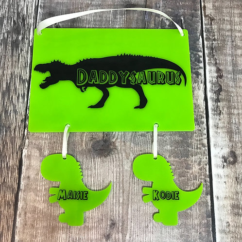 Daddysaurus plaque