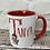 Thumbnail: Christmas fairy girl initial mug