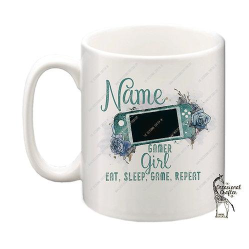 Handheld Gamer Girl mug