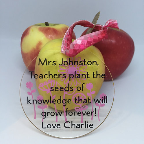 Teachers plant the seeds of knowledge disc