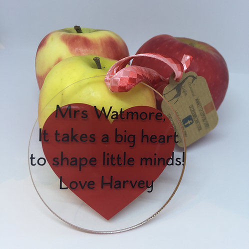 It takes a big heart to shape little minds disc