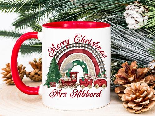 Merry Christmas train mug