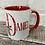 Thumbnail: Christmas fairy boy initial mug