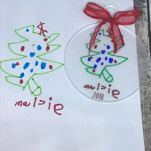 Bauble from your child's drawing