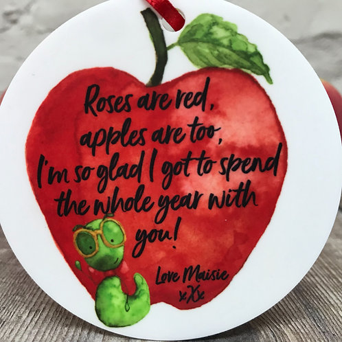 Teacher roses quote on disc