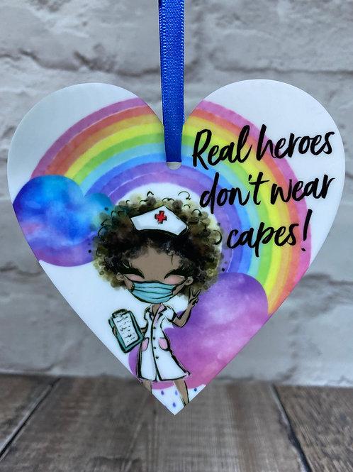 NHS nurse curly hair