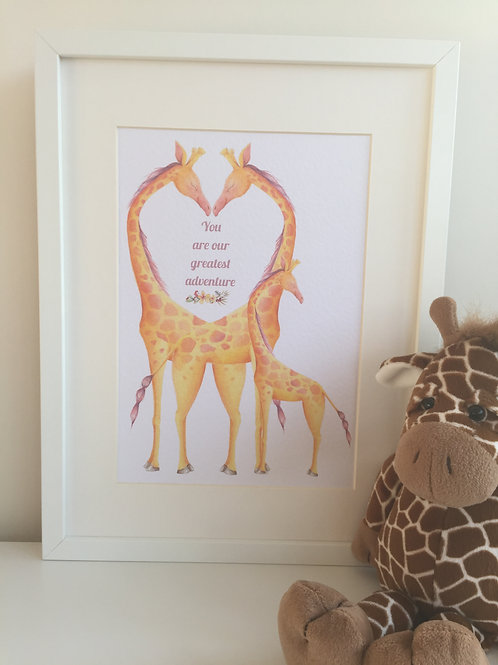 You are our greatest adventure - Giraffes
