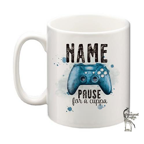 X PAUSE mug