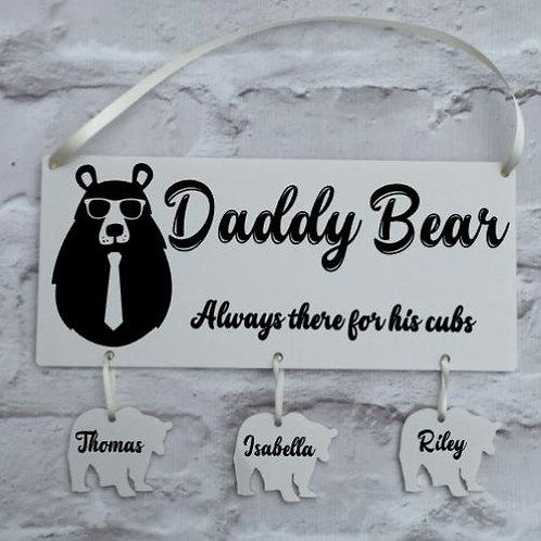 Daddy bear plaque