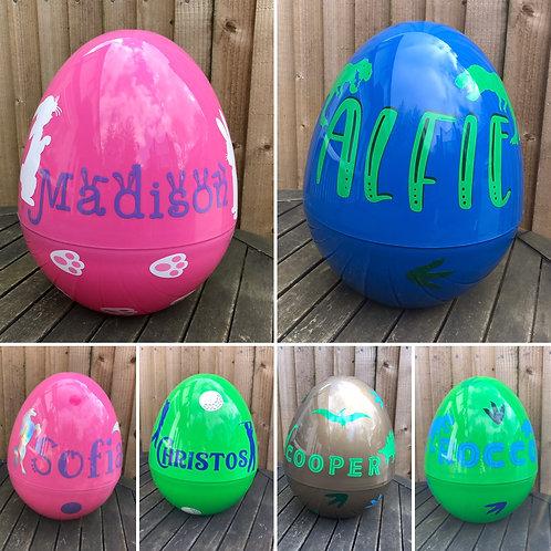 Giant fillable eggs