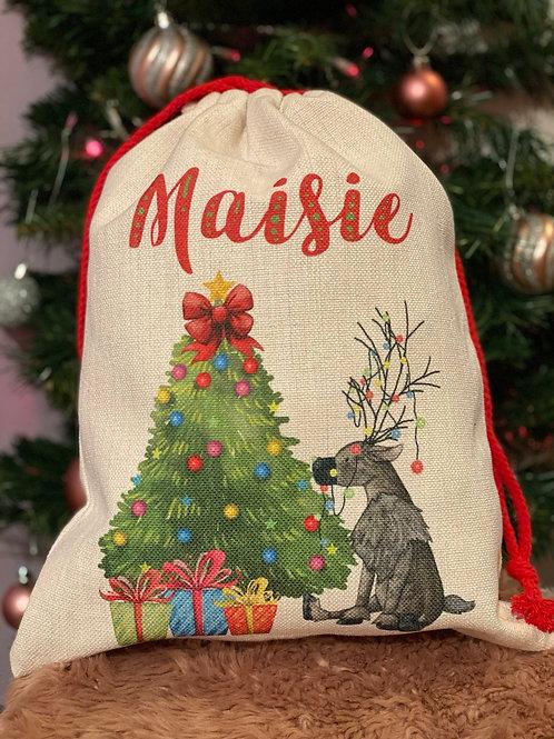 Reindeer Chistmas sack