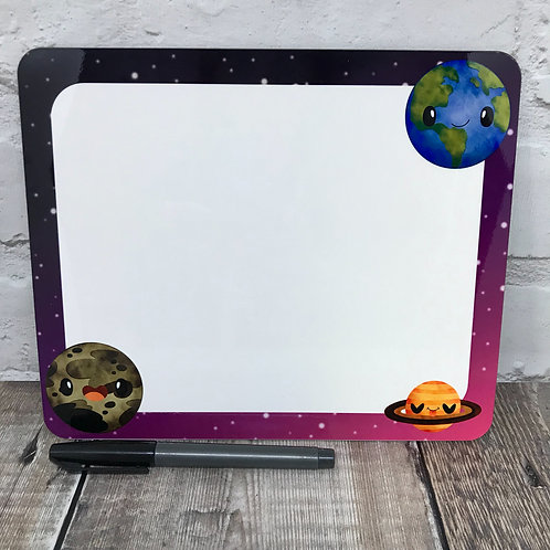 Space dry wipe board and pen