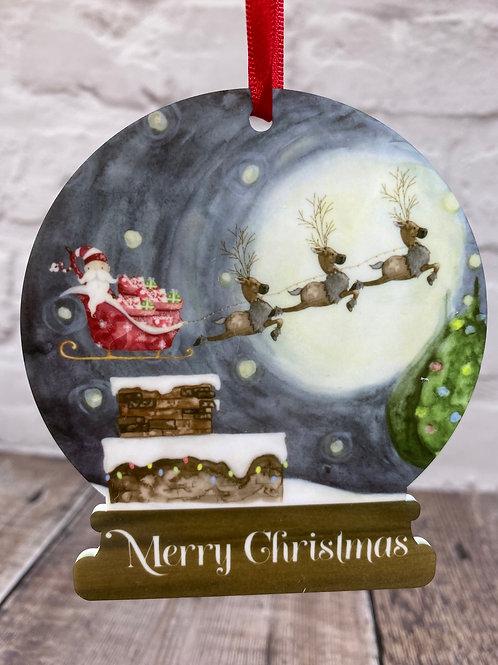 Flying Santa Snowglobe