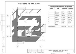 КД-25 - План 1-го этажа