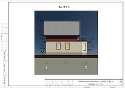 Фасад каркасного дома 6х7
