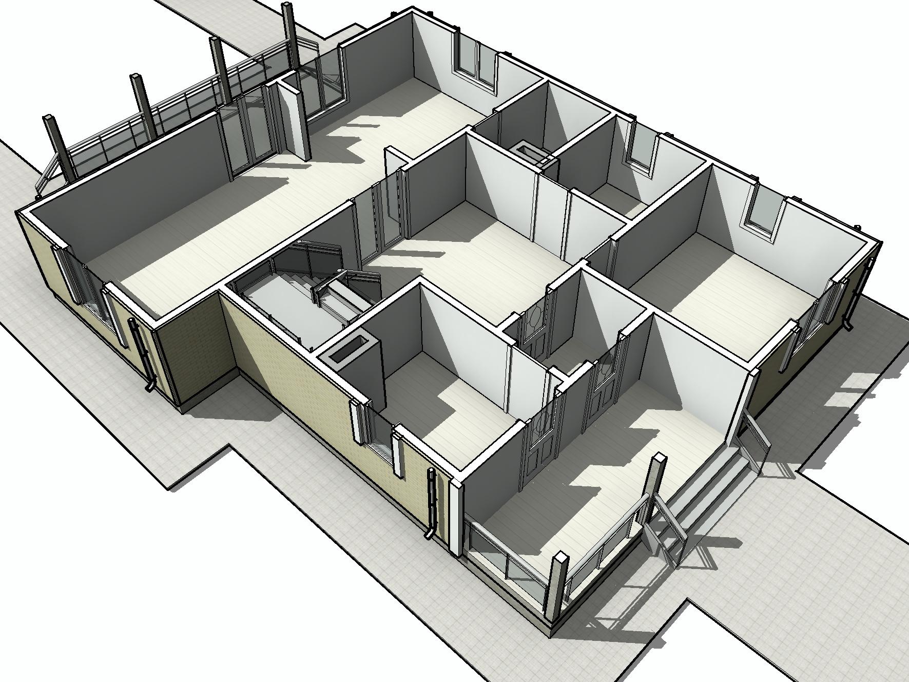 КД-30 - Общий вид 1-го этажа