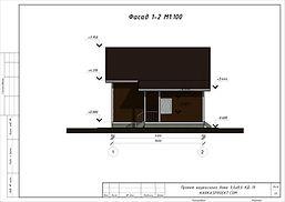 Фасад каркасного дома 9х8
