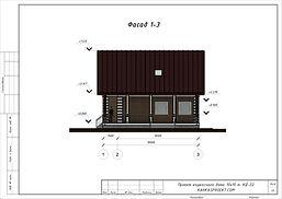 Фасад каркасного дома 10х10