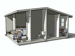 Готовый проект каркасной минигостиницы 6х6