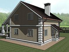 каркасный дом 10х10 метров