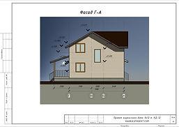 Готовый проект каркасного дома 8х10