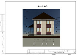 Готовый проект каркасного дома 11х8,5