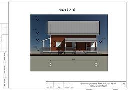 Готовый проект каркасного дома 7х10,5