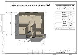Планировка каркасного дома 9х8