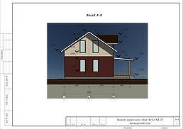 Готовый проект каркасного дома 8х9