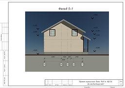 Фасад 5-1 каркасного дома 9х10