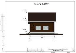 Фаса каркасного дома