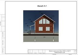 Фасад каркасного дома 7х10