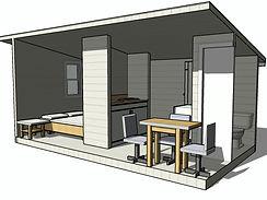 Готовый проект каркасного дома 6х3