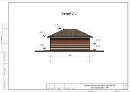 Фасад каркасного дома 6х9