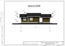 Фасад каркасного дома 7Х13