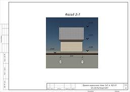 Фасад каркасного дома 5х5