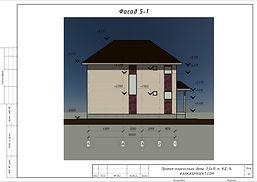 Фасад каркасного дома 11х8,5