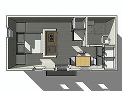 Планировка каркасного дома 6х3