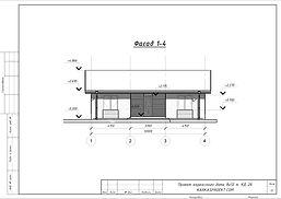 Фасад каркасного дома 8х12