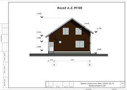 Фасад каркасного дома 9,6х8,6