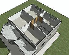 Планировка каркасного дома 8,45х9,7