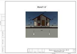 Фасад каркасного дома 6х6
