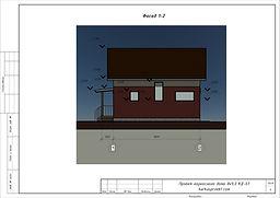 Фасад каркасного дома 8х9