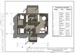 Планировка каркасного дома 8х12