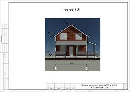 Фасад каркасного дома 7х10,5