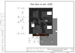 План второго этажа каркасного дома 10х9