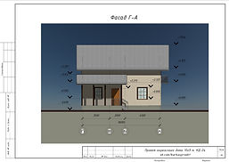 Фасад Г-А каркасного дома 10х9