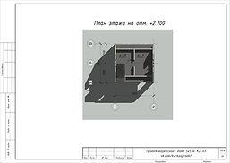 План второго этажа каркасного дома 5х5
